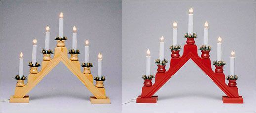 Swedish Electric 5 Light And 7 Light Candelabras Christmas Candle Holders Swedish Christmas Christmas Candle