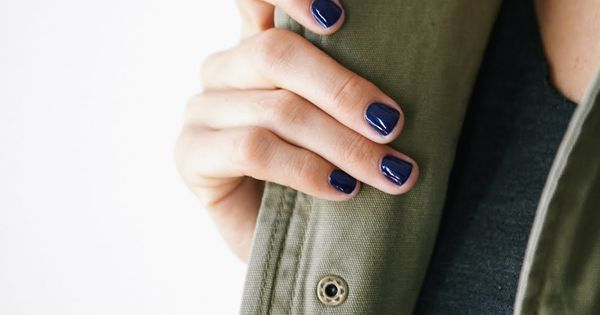 Navy nail polish is hot right now. Would you wear it? (A