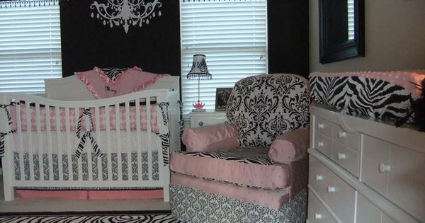 pink zebra nursery. so cute!