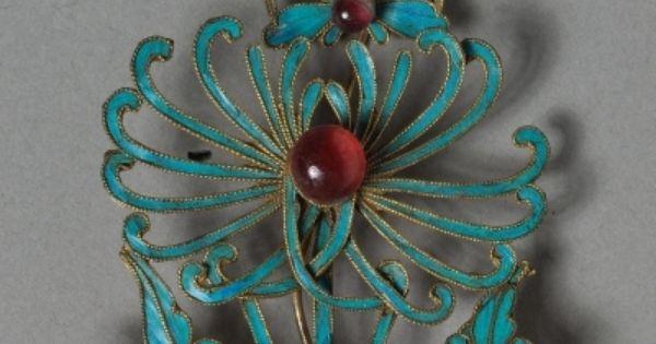 Headdress Ornament Kingfisher Feathers And Carnelian