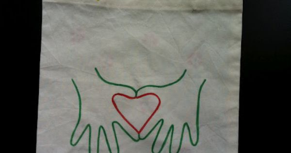 Book Bag with heart hands Mama Pea Pod: {Mothers Day Idea}