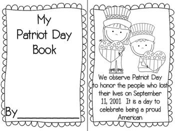 Patriot Day Mini Book Mini Books Patriots Day Patriots Day Activities