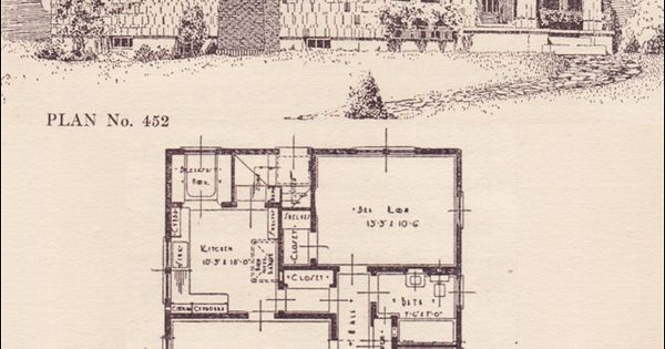 1924 Portland Telegram Plan Book No 452 Vintage House