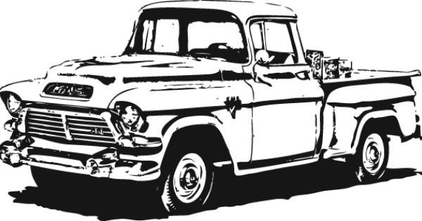 1950 39 S Gmc Pick Up Vector Clip Arts Clip Art Clipartlogo Old Trucks Classic Chevy Trucks Old Ford Truck