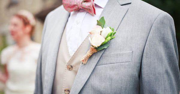 boutonniere champ tre mari noeud papillon rose mariage. Black Bedroom Furniture Sets. Home Design Ideas