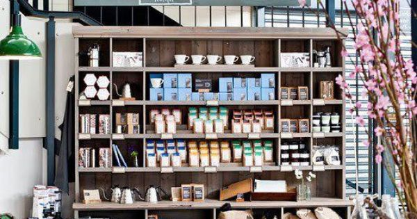 Coffee shop with multi use functionality built in space for Coffee shop display ideas