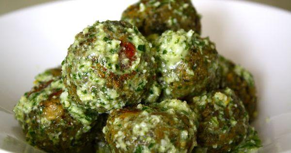 Lentil Meatballs w. Lemon Pesto [sparrows & spatulas] | feed me ...