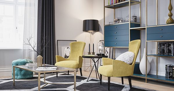 Modern Exciting Living Room Vermillion3d Deviantart