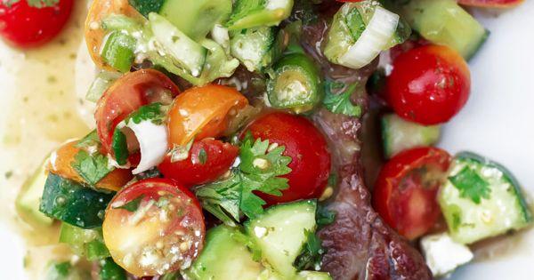 Strip steak, Mediterranean dishes and Steaks on Pinterest