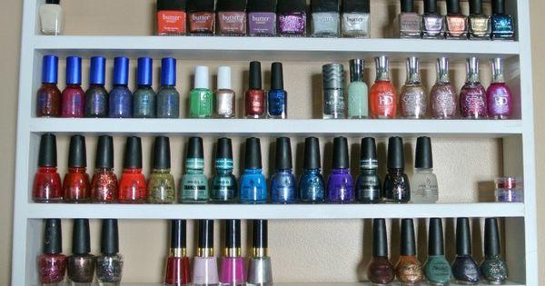 Plane Pretty | Fashion Blog: Nail Polish Storage - DIY Shelf. pretty!