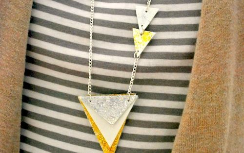 Geometric DIY necklace