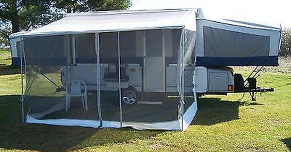 Coleman Fleetwood Deluxe Screen Room Pop Up Tent Trailer Coleman Pop Up Campers Pop Up Camper