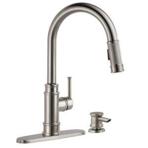 Delta Allentown Single Handle Pull Down Sprayer Kitchen Faucet