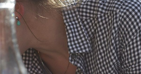 I like the checked shirt with the messy bun - so cute!