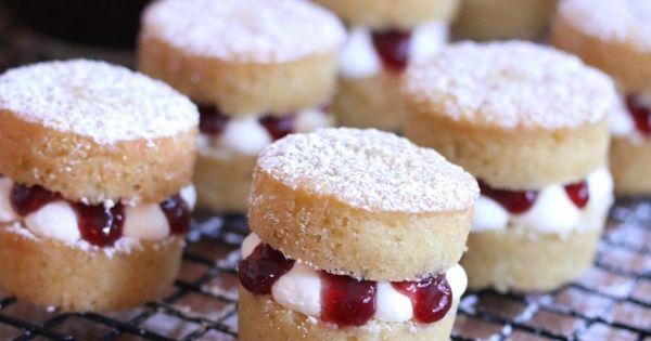Mini Victoria Sponge Cakes recipe English British traditional authentic