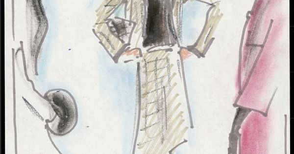Karl Lagerfeld's Fashion Sketches