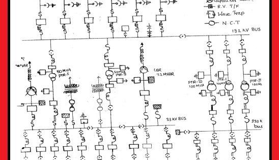 Single Line Diagram Of A 220 X2f 132kv Substation Elec Eng World Esquemas Electricos Cableado Electrico Electricidad