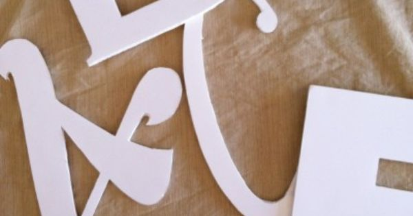 Foam board letters made with a silhouette awesome for Giant foam letters diy