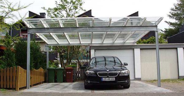 stahl leimholz carport mit glasdach carport pinterest. Black Bedroom Furniture Sets. Home Design Ideas
