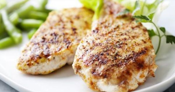 Kick up grilled chicken breast by mixing up the following marinade in ...