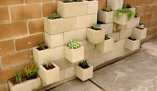 love the Cinderblock Herb Garden idea!