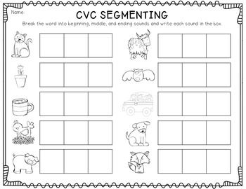 picture relating to Free Printable Cvc Worksheets identified as CVC Segmenting Freebie! 1st Quality Cvc phrases, Instruction