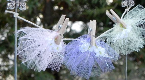 Fairy garden clothesline, miniature fairy skirts.