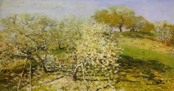0165b Springtime Aka Apple Trees In Bloom 1873 Claude Monet Claude Monet Paintings Monet Paintings