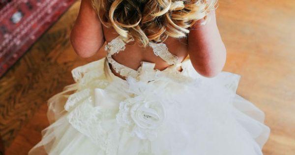 Flower Girl Dress Lace Tutu style soft ivory by JezebelJerry, $200.00 I