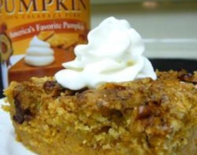 Pumpkin Crunch Cake. Review: this recipe was ok. I have had better