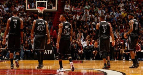 Miami Heat 5 On The Floor Chris Bosh Udonis Haslem Norris Cole