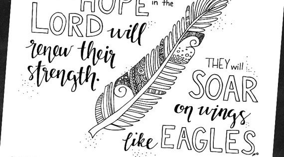 Bible Verse Coloring Page Isaiah 40 31 Printable