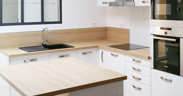 Cuisine scandinave blanche design et sans poign e plus d for Amenagement cuisine 3d gratuit