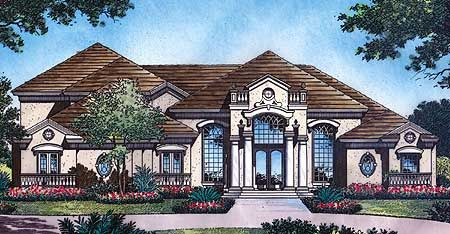 Plan 6339hd Luxury In All Directions In 2020 Mediterranean Style House Plans Craftsman Style House Plans House Plans
