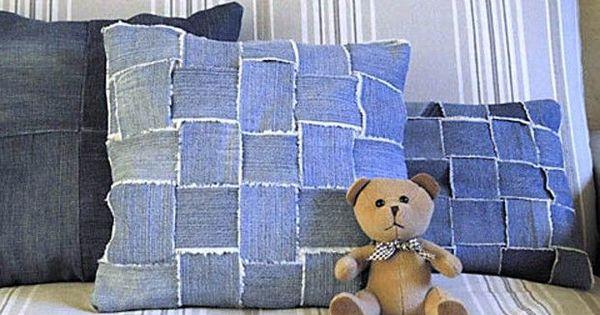 Idee per il riciclo della stoffa dei jeans in borse e ...