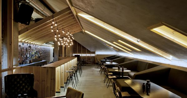 Attic Bar In A Belarus House With Low Ceilings And Exposed Brickwork Brickwork Attic And Ceilings