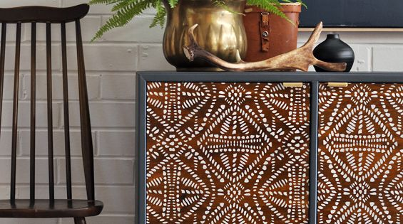 Tribal Batik Furniture Stencil Patterned Furniture