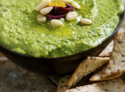 Spinach basil garbanzo Green Monster Hummus - As usual, I didn't follow
