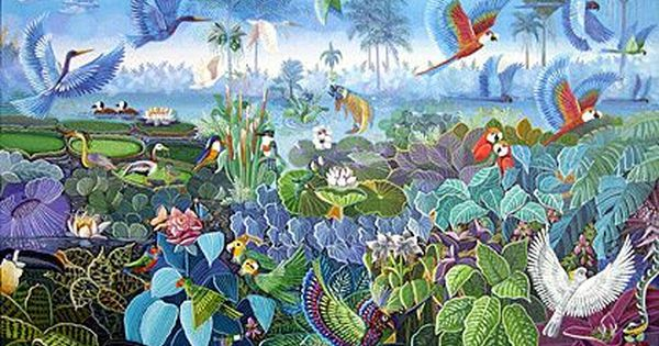 Malu Delibo Jardin Del Eden Murals Street Art Naive Art Nature Paintings