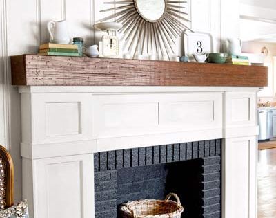 I wonder if we could make a fake fireplace surround & mantle