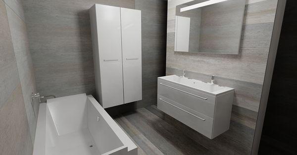 Think out of the box keramische tegels in verschillende maten zelf 180 x 60 cm maak je - Deco toilet grijs ...