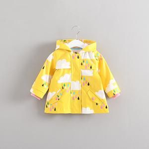 Spring Cute Fashion Kids Baby Cape Polka Dots Cotton Hooded Tops Girls Coat