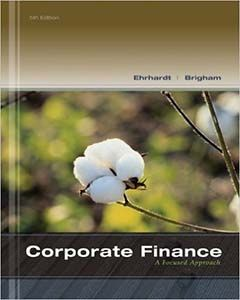 Solutions manual for Corporate Finance: A Focused Approach