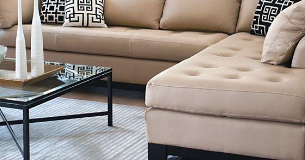 Sectionnel elite leather sectional sofa meubles fait aux for Meuble linton montreal