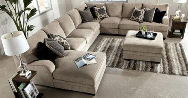 Signature Design By Ashley Katisha Platinum 5 Piece Sectional Sofa With Left Chaise Miskelly