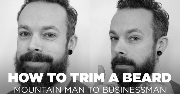 how to trim a beard mountain man to businessman beard hair pinterest beard trimming. Black Bedroom Furniture Sets. Home Design Ideas