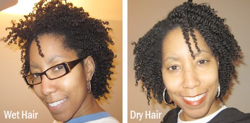 Two Strand Twist Out Wet Vs Dry Hair Natural Hair Transitioning Natural Hair Styles Short Natural Hair Styles