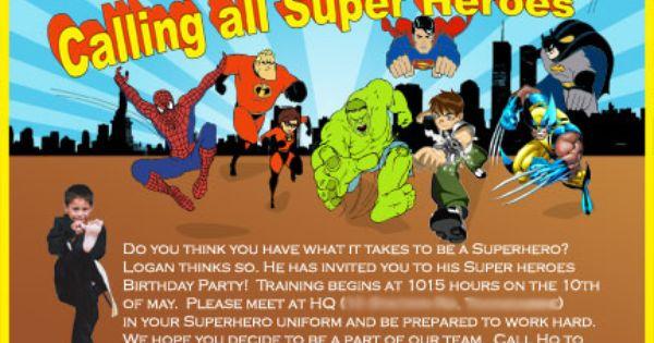 superhero save the date invitations | Superhero Invitation ...