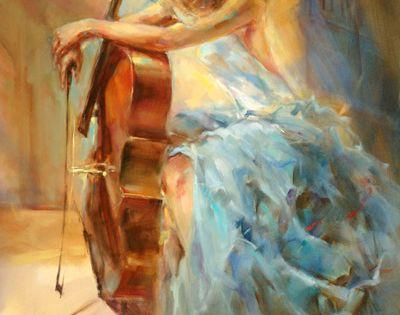 Грация, очарование, вдохновение, страсть. Художник Анна Разумовская   Наслаждение творчеством
