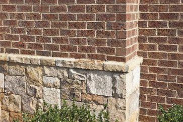 Mix Brick And Stone Design Ideas Pictures Remodel And Decor Exterior Stone Brick Exterior House Red Brick House Exterior